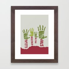 Deforestation has to stop Framed Art Print