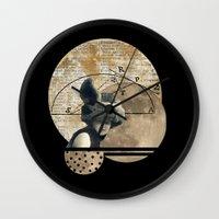 Moon Maiden Wall Clock