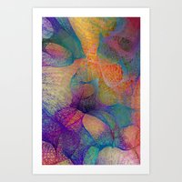 Colorful Veils Art Print