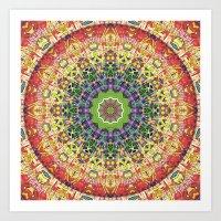 Intricate Colorful Abstr… Art Print