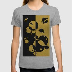 Stars. Yellow Womens Fitted Tee Athletic Grey SMALL