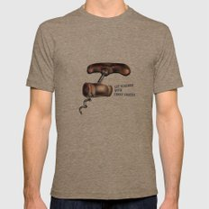 Corky Comedy  Mens Fitted Tee Tri-Coffee SMALL