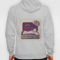Vintage Journey Suitcase (His) (Retro and Vintage Still Life Photography) Hoody