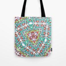 Kaleidoscope blue Tote Bag