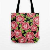 Alpen Rose Allover Tote Bag