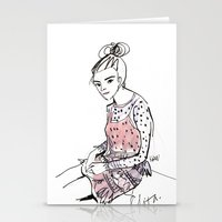 Lolita In A Sheer Pink P… Stationery Cards