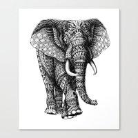 Ornate Elephant V.2 Canvas Print