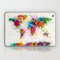 Laptop & iPad Skin featuring Map Of The World Map Pai… by ArtPause