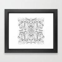 Pile Ou Faces Framed Art Print