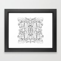 Pile Ou Faces Framed Art Print