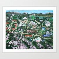 Silicon Valley Through TIme Art Print