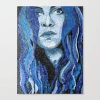 Of Water - Monochromatic Mosaic Canvas Print