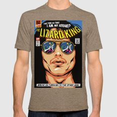 The Lizard King Mens Fitted Tee Tri-Coffee SMALL