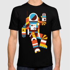 Hello Spaceman 2.0 SMALL Mens Fitted Tee Black