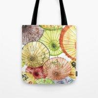 Paper Umbrellas Tote Bag