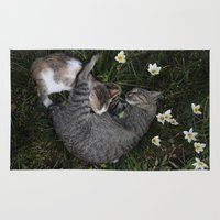 Sleep [A CAT AND A KITTE… Rug