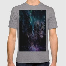 One Magical Night... (teal & purple) Mens Fitted Tee Athletic Grey SMALL