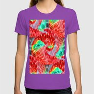 Discharge Pulse Womens Fitted Tee Ultraviolet SMALL