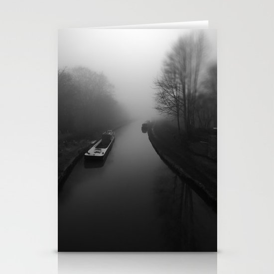Canal fog Stationery Card