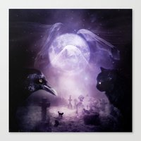 In The Glow of Darkness We Wait Canvas Print