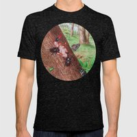 A Day of Forest (3). (Observe the tree) Mens Fitted Tee Tri-Black SMALL