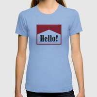 Hi Womens Fitted Tee Athletic Blue SMALL