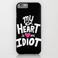iPhone & iPod Case featuring My Heart Is An Idiot by Chris Piascik