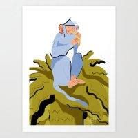 LIKE A MONKEY ON A TREE Art Print