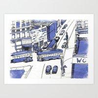 Blue City Art Print