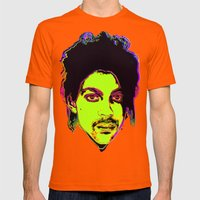 Prince / Warhol Remix Mens Fitted Tee Orange SMALL
