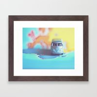 Silver VW Bus Framed Art Print