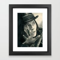 Willy Wonka - Chocolate … Framed Art Print