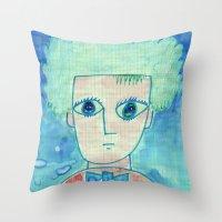 Grid Boy Throw Pillow