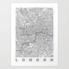 London Map Line Art Print