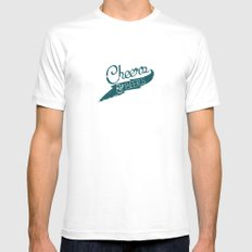 CHeers & BEerS Mens Fitted Tee SMALL White