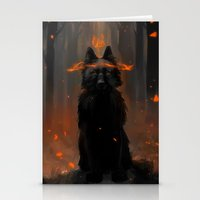 Crowned Wolf Stationery Cards