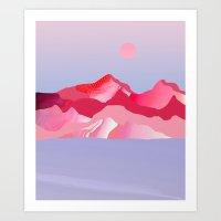 Pink Sun Blush Art Print