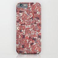 A1B2C3 coral red iPhone 6 Slim Case