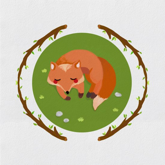 sleeping mr fox Art Print