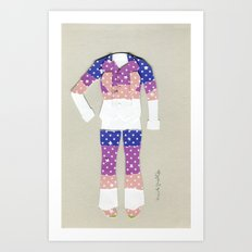 Voyager Suit Outfit Art Print