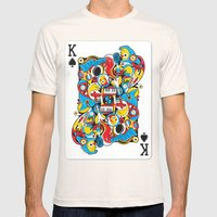 King Of Spades Mens Fitted Tee Natural SMALL