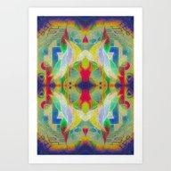 Mandala H Art Print