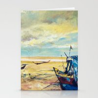 Blissful Shore Stationery Cards