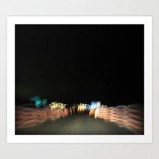 On the road again Art Print