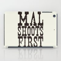 Mal Shoots First iPad Case