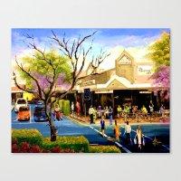 Sidewalk Cafe Canvas Print