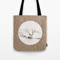 Scots Pine Paper Bag Sepia Tote Bag