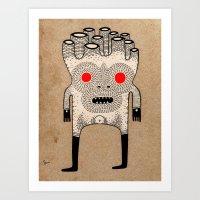 Cardboard Man Art Print