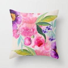 Floral white  Throw Pillow