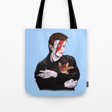 David & The cat Tote Bag